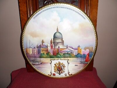 Fine Aynsley Large Hand Painted Plaque.st Pauls Cathedral By Artist M.bates.