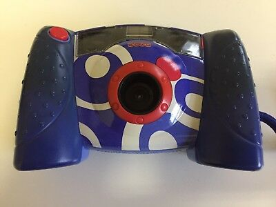 Fisher Price Kids Digital Camera 2006 Blue White Red Kid Tough Tuff With Case