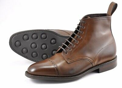 Loake 1880 Hyde Burnish Dark Brown men's leather boots Made in England