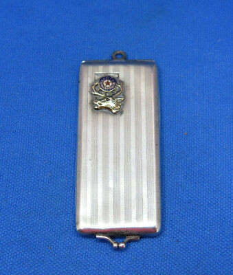 BPOE sterling & gold card case, toothpick case, needle case, c. 1900