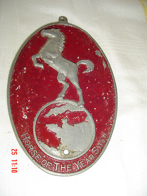 Vintage Horse of the Year Show HOYS Competitors Stable Door Metal Plaque Sign