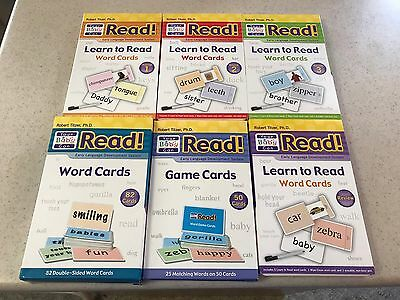 Your Baby Can Read Sliding Word Cards Volumes 1-3~50 Game Cards~82 Word Cards