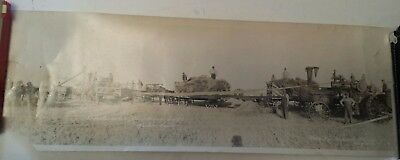 "Rare Canadian (Keeler, Sask) ""threshing Outfit"" Circa 1900's Panoramic Photo"