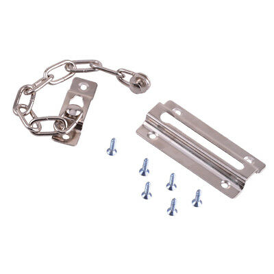 Iron Door Security Safety Chain Guard Fastener Silver Lock Bolt Home Hotel