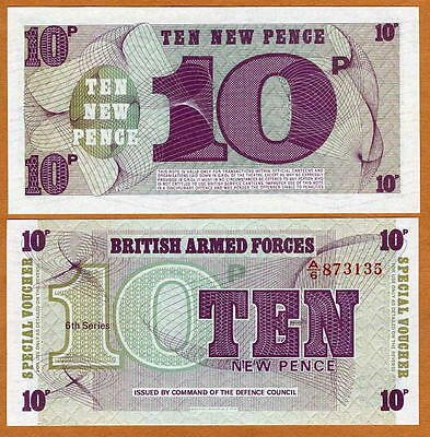 Great Britain (UK),10 New Pence (6th. Series), Armed Forces,1972, P-M45,UNC,1PCS