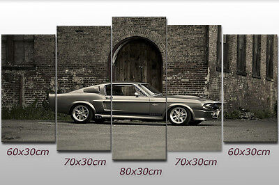 Leinwand-bild Ford Mustang GT 500 Shelby US-car Auto Coupe Oldtimer Wand Bilder