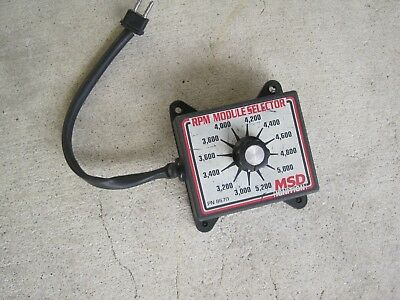 MSD  8670 RPM Module Selector IHRA NHRA drag boat Modified Dirt dragster