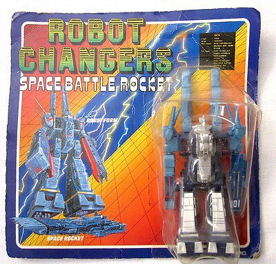 Vintage Robot Changers Space Battle Rocket Bootleg Sd-F1 Macross Robotech Nuovo!