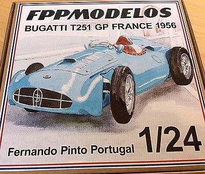 BUGATTI T 251 F1 1956 France GP FPPM 1/24 unassembled model kit