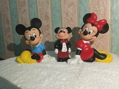 Mickey and Minnie Mouse Vintage Collectable Money Boxes Official Disney