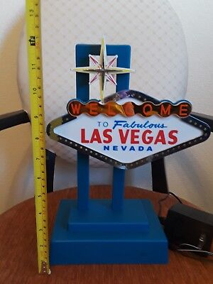 WELCOME TO FABULOS LAS VEGAS LAMP LIGHT UP SIGN VINTAGE WORKS! Over 1F tall