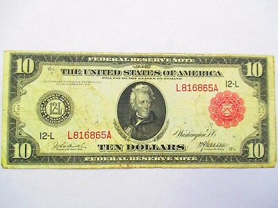 Fr 903 1914 $10  Federal Reserve Note - Red Seal