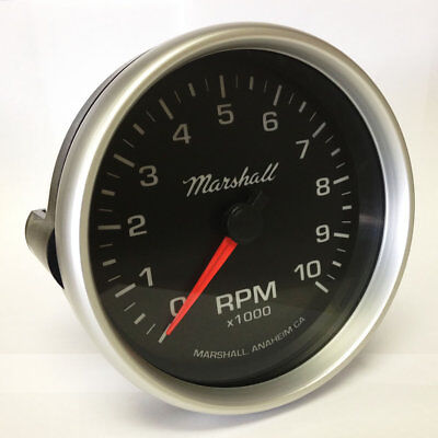 Marshall 3092 5 tachometer 10000 rpm memory tach with recal c2 5 in dash tachometer 0 10000 rpm silver aluminum bezel publicscrutiny Image collections