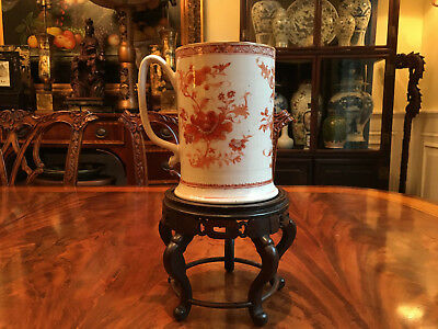 A Large and Rare Chinese 18th C Export Famille Rose Porcelain Mug.