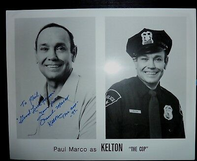 Paul Marco Actor Kelton - Cop Plan Nine from outer space Hand Signed Photograph