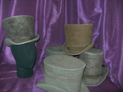 Theatrical Early Victorian Top Hats X 5 By The Royal Opera House Period Hat