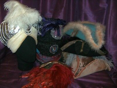 Theatrical Masquerade Hats By Glyndbourne Opera / Royal Opera House X 7 Costume