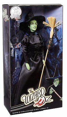 WIZARD OF OZ 75TH ANNIVERSARY WICKED WITCH Barbie DOLL Satisfaction guaranteed