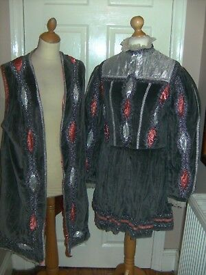 Theatrical Pantomime King Baron Stage Costume Mens Theatre Period Tudor Stage