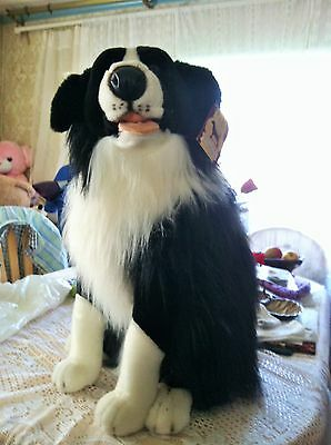 "RARE  Jumbo  LARGE Dog Sitting Prima Classique  Plush  about 23"" - about 60 cm"