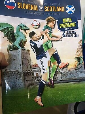 Slovenia V Scotland official match programme 8th October
