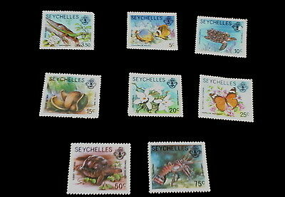 Seychelles Wild Life Stamps, Set of 8