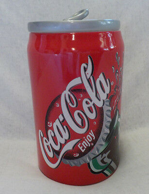 """Coca-Cola Cookie Jar by Gibson Ceramic Multi Colors 2001 11.5"""" X 6.5"""" 'Can' Look"""