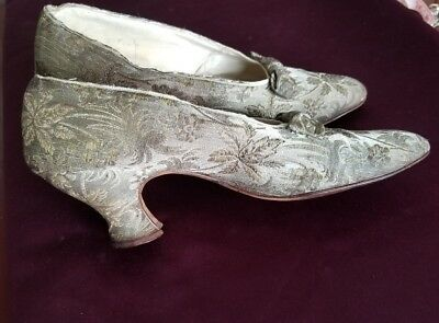Women's Edwardian Gold Brocade Dress Shoes
