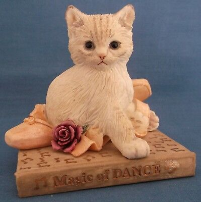 Country Artists Kitten Tales Cat Magic Of Dance Ballet Shoes Rose Figurine