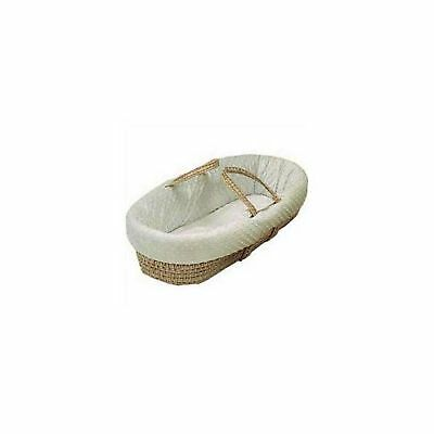 Baby Doll Bedding Heavenly Soft Moses Basket Ivory