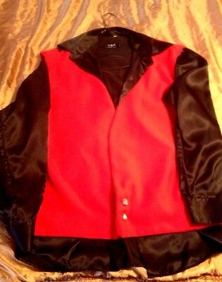 TCB  Elvis Style copy  Red Vest -Black Puffy Shirt & More