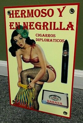 Hermoso Cuban cigars tobacco sign
