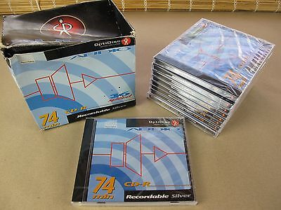 9 x OPTIDISC RECORDABLE SILVER CD-R AUDIO 16x SPEED - 74MIN - NEW & SEALED