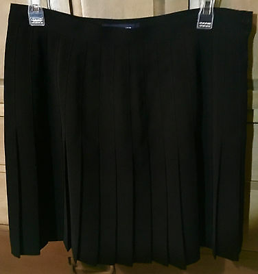The Limited Girl's Traditional Pleated Black School Uniform Skirt Size 12