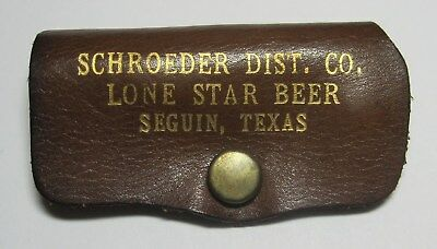 Lone Star Beer Nail Clippers In Leather Case Schroeder Dist.co. Seguin Tx