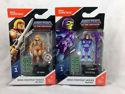 Lot of 2 - Mega Construx - Heroes - Masters of the Universe - He-Man - Skeletor