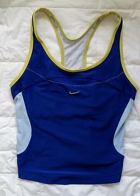 Nike Dri-fit gym fitness yoga active blue mesh racer back tank top small S P 4-6