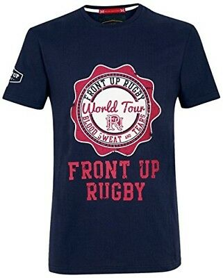 (X-Large, Z73 Navy) - Front Up Rugby Men's Rugby Short Sleeve T-Shirt