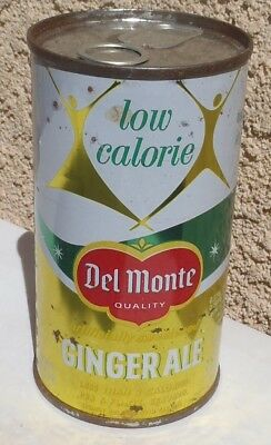 No Book  Low Calorie Del Monte Ginger Ale Juice Tab Intact San Francisco Ca