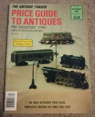 December 1987 Price Guide to Antiques Magazine Tinplate Trains