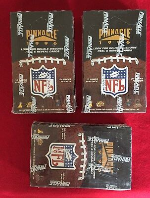 (3)1996 Pinnacle Football Factory Sealed Boxes-24 Packes Per Box-Lots Of Inserts