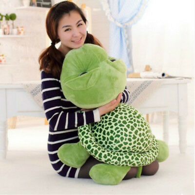 "23.6"" Tortoise Turtle Stuffed Plush Toy Pillow Big Eyes Green Present for Child"