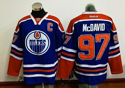 Connor McDavid Blue Jersey (Replica) - Medium - Brand New EXCELLENT QUALITY