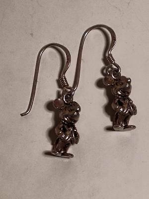 Sterling Silver .925 Mickey Mouse Disney Earrings
