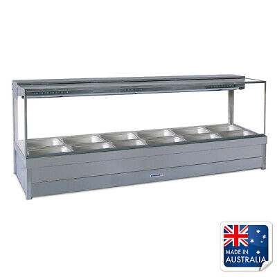 Bain Marie / Hot Food Display Square Double Row with 12x 1/2 Pans Roband S26