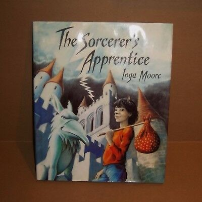 Sorcerers Apprentice Wizard Inga Moore MacMillan 1989 Vintage Story Picture Book