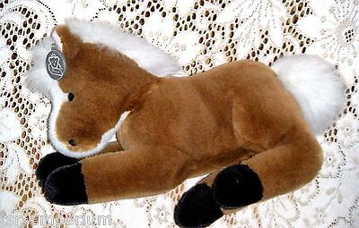 Princess Soft Toys Plush Brown Lying Down Stuffed Horse Foal with Original Tag