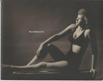 1940's Original 8X10 Photo, Irish Mccalla (Sheena) Modeling Shot On Heavy Paper