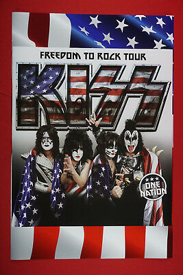 Kiss Freedom To Rock One Nation Tour Concert Stars and Stripes Poster 24X36 New