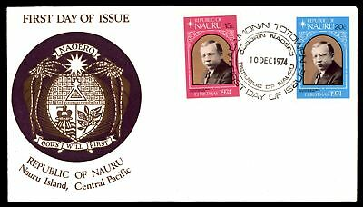 Mayfairstamps REPUBLIC OF NAURU FDC 1974 CHRISTMAS GODS WILL FIRST CACHET UNSEAL